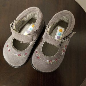 "Gymboree ""Anne"" Grey Suede Mary Janes  Size 4"